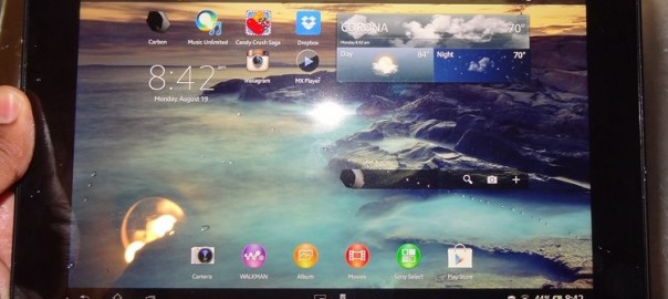Sony Xperia Tablet Z Gets it Feet Wet [Review]